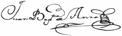 Juan Bautista de Anza signature